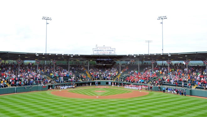 Aug 27, 2015; Williamsport, PA, USA; A general view of the field prior to the game between the Mexico Region and Latin America Region at Howard J. Lamade Stadium.