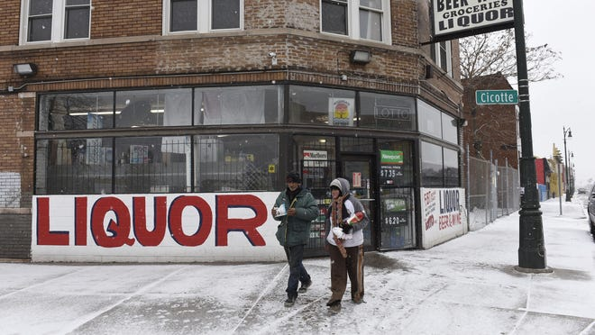 Abby's Party Store in southwest Detroit is not signed up for Project Green Light, which allows police to monitor businesses' video surveillance.