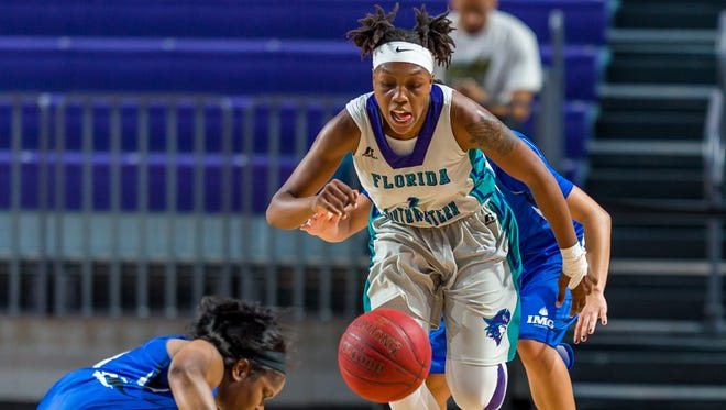 FSW sophomore guard Erna Normil had D-I scholarship offers after her freshman season but chose to return to FSW this season to continue improving her stock.