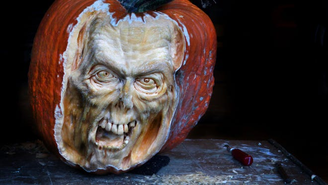 Deane Arnold will give pumpkin-sculpting demonstrations in the mid-Hudson Valley this weekend.     Courtesy photo