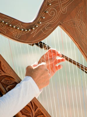 A harpist will play during the open hours for the labyrinth Wednesdays in December at Asbury First.