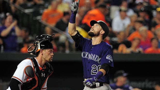 Things are looking up for Rockies outfielder David Dahl, who made his MLB debut this week and hit his first home run.