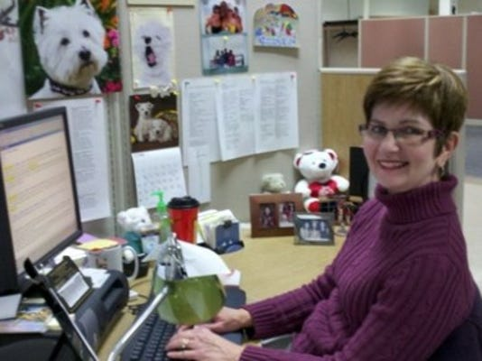 Editorial assistant Susan Mafnas has been working for the newspaper for 10 years..