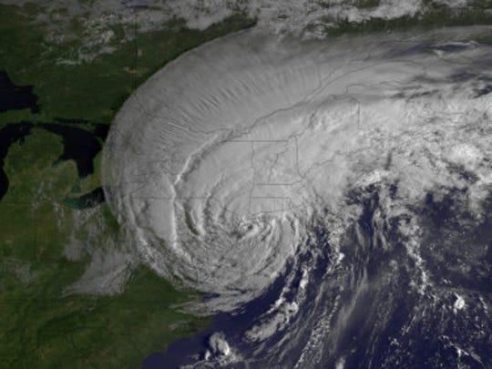 Tropical Storm Irene making landfall in August 2011 (Source: NOAA)