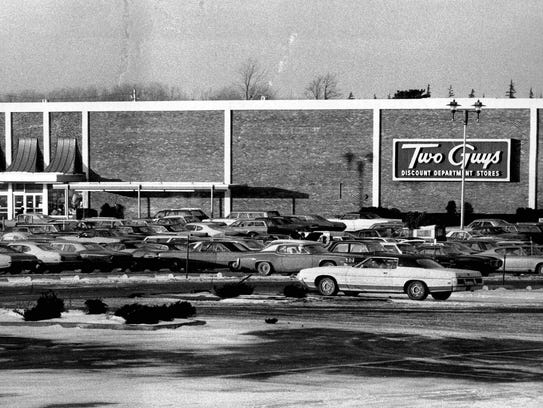 A popular destination for shoppers was Two Guys Discount