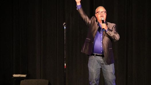 """Greg Weaver, a content coach at IndyStar, won the open division of """"Shelby Idol,""""  at age 55."""