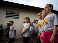 Vesper Community Academy students sing farewell song at open house
