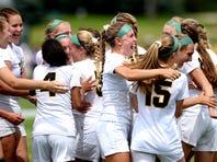 Watch Lansing Christian girls soccer celebrate state title
