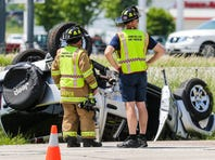 Two car crash on Pioneer Road injures at least one