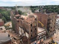 Video: Demolition of 19 Academy Street continues