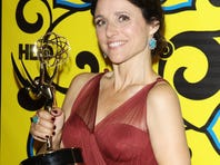 Julia Louis-Dreyfus hit the party around 11 p.m. with her cast and her Emmy.