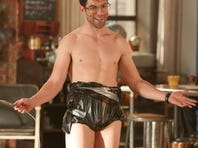 """Running around the house shirtless is """"part of the fabric of who Schmidt (Max Greenfield) is on Fox's 'New Girl,' says showrunner Dave Finkel. """"He's a bit of a narcissist. He's also a guy who has dealt with weight issues over the course of his life, so he's now gotten his body where he wants it to be and he's going to put it out there."""""""