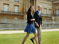 The honeymoon doesn't seem so long ago: William and Kate are seen here departing for their honeymoon on April 30, 2011. The reaction at the palace to the news that the couple are expecting their first child was one of restrained delight.