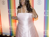 Aretha Franklin arrives at the Kennedy Center Honors Performance and Gala.