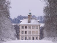 Ashdown House in the snow.