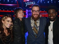 Cassadee Pope, left, Terry McDermott, Nicholas David and Trevin Hunte are the final four.
