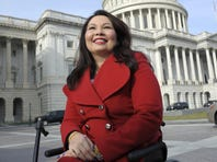 Tammy Duckworth appears outside the Capitol on Thursday. She was targeted by FreedomWorks for America during her House campaign.