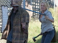 """Andrea (Laurie Holden) collars a """"walker."""""""