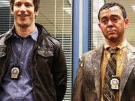 'Saturday Night Live' alum Andy Samberg, second left, teams up with fellow Emmy winner Andre Braugher, second right, for Fox's cop comedy 'Brooklyn Nine-Nine.'
