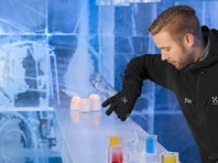 The Icebar Stockholm is kept at a chilly 28-degrees Fahrenheit and is open year-round.