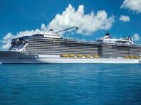 Norwegian Cruise Line's Norwegian Getaway under construction at the Meyer Werft shipyard in Papenburg, Germany.