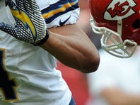 Chiefs RB Jamaal Charles (25) fumbled twice Sunday vs. the Chargers.