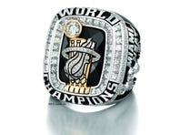 LeBron James' championship ring is a pretty thing.