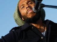 Musician Ziggy Marley performs at the 2008 Earth Day and Green Apple Music Festival in  Santa Monica.