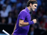 The regular season is over for Roger Federer, which leaves him time to collect big paychecks playing exhibitions.