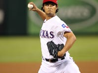 Yu Darvish went 16-9 with a 3.90 ERA in his first season with the Rangers.