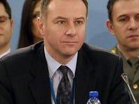 Photo taken Dec. 5 shows Serbian Ambassador to NATO Branislav Milinkovic, who committed suicide Wednesday.