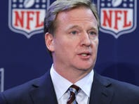 NFL Commissioner Roger Goodell listens to a question during a news conference after the NFL owners meeting, Wednesday, Dec. 12, 2012, in Irving, Texas.