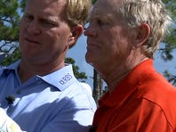Jack Nicklaus and his son Gary, shown here in 2008, will participate in this weekend's Father-Son Challenge in Orlando.