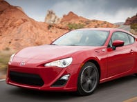 Scion's new-for-2013 FR-S sport coupe. FR-S stands for front-engine, rear-wheel drive sport.