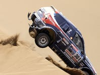 Stephane Peterhansel, competing here in 2010, has won 10 Dakar Rally titles.