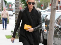Charlize Theron and her buzz cut take a walk Dec. 23 in Los Angeles.