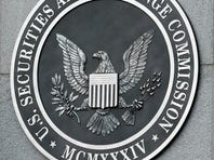The U.S. Securities and Exchange Commission seal outside the agency's Washington headquarters.
