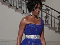 First lady Michelle Obama hosts a concert for children on Saturday.
