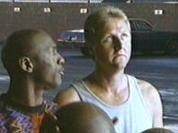 Basketball starts Michael Jordan and Larry Bird shot an outlandish game of H-O-R-S-E to decide who will dine on a McDonald's Big Mac in this 1993 Ad Meter-wining Super Bowl ad.