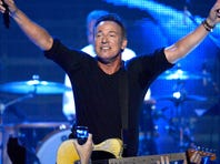 Honoree Bruce Springsteen performs onstage at The 2013 MusiCares Person Of The Year Gala in Los Angeles on Friday night.