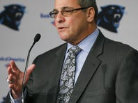 Carolina Panthers new general manager Dave Gettleman speaks during a news conference.