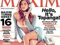 Danielle Fishel covers the April issue of 'Maxim' magazine.