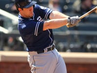 Padres' Jedd Gyorko doubled in the go-ahead run in the fourth for his first major league RBI.