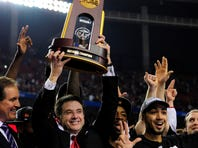 Pitino won his second national title with the Louisville Cardinals in 2013.  Pitino became the first coach to win titles at two different schools.