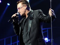 U2 singer Bono performs at the Power of Love gala.