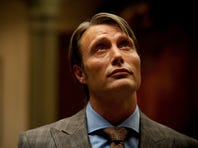 This publicity image released by NBC shows Mads Mikkelsen as Dr. Hannibal Lecter in a scene from the TV series, 'Hannibal,' airing Thursdays at 10 p.m. ET. NBC says it's pulling an episode of its serial killer drama out of sensitivity to recent violence.