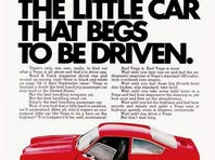 A 1971 ad the the Chevrolet Vega.