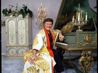"Liberace in his ""Leapin' Lizards, It's Liberace!"" television special in 1978."
