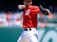 Starting pitcher Stephen Strasburg of the Washington Nationals struck out a season-high nine batters.