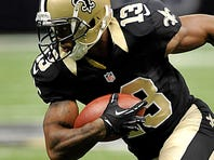 Saints WR Joe Morgan only had 10 catches in 2012, but three went for TDs.